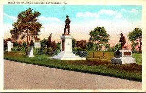 Pennsylvania Gettysburg Scene On Hancock Avenue