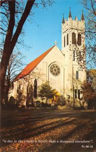 Winona Minnesota~St Martins Evangelical Lutheran Church~Psalm 84:10 Quote~1960s