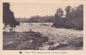 Belgian Congo Kasai Waterval van de Lulua in de boort van Hemptinne