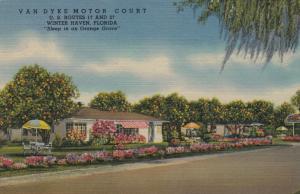 WINTER HAVEN , Florida, 1930-40s ; Van Dyke Motor Court