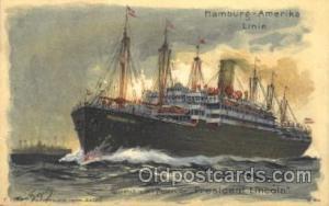 President Lincoln, Rauchsalon Hamburg America Line, Lines, Ocean Liner, Ship ...