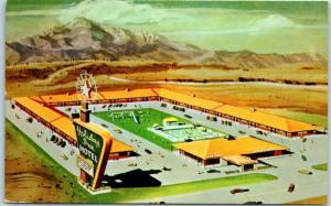 Bakersfield, CA Postcard HOLIDAY INN HOTEL Artist's View Highway 99 Roadside