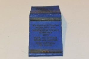 You Are Always Welcome at Bowden's Pharmacy 20 Strike Matchbook Cover
