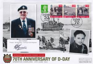 Ken Turner Trooper 7th Royal Tank Regiment D-Day Hand Signed WW2 FDC