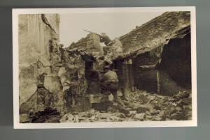 Mint Spain Civil War RPPC Postcard Aragon Front Republican House Fighting Tierz