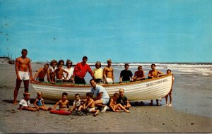 New Jersey Sea Isle City Life Guards With Bathers On The Beach