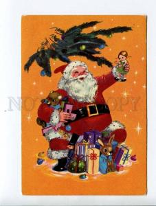 263404 ITALY NEW YEAR SANTA w/ TOYS Vintage postcard