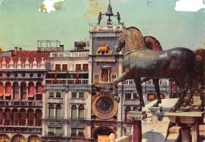 Italy Venezia The Clock Tower Torre dell'Orologio Uhrenturm Horse Statues