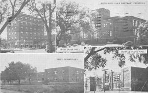 Alma Oklahoma~Dunn, Bell, Horack Halls and Boys Dormitory~1939 Postcard