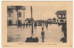 Benin; Dahomey, 1925 Cotonou Floods, The Return From Market PPC, By ER, Unused