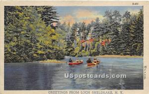 Greetings from Loch Sheldrake NY Unused