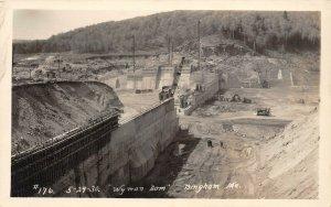LP46 Bingham   Maine  Wyman Dam   RPPC Postcard