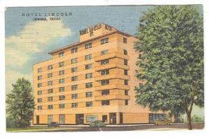 Exterior, Hotel Lincoln, Odessa,Texas,30-40s