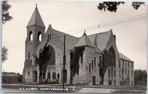 Mount Vernon, Iowa RPPC Real Photo Postcard M.E. CHURCH Building View c1910s