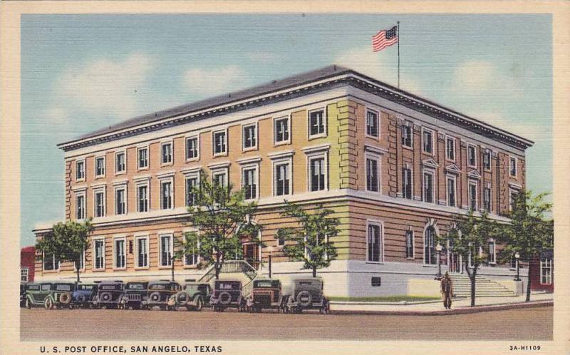 Exterior, U.S. Post Office, San Angelo, Texas,  30-40s