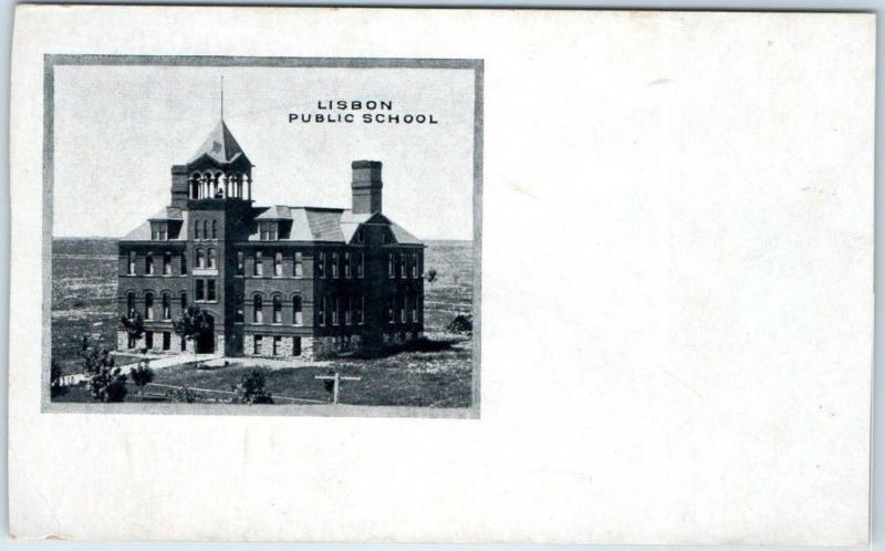 Lisbon, Ohio Postcard PUBLIC SCHOOL Building View c1900s UNUSED