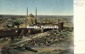 egypt, CAIRO, General View with Alabaster Mosque (1910s) Islam