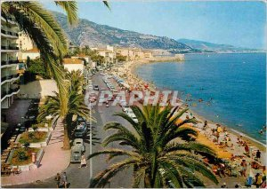 Modern Postcard The wonderful sites of the French Riviera Menton The Promenad...