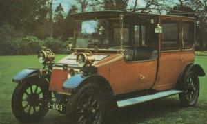 Lanchester 1910 British 28 HP Rare Car Photo Postcard