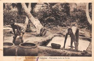 Benin Dahomey Port-Novo, Fabrication huile de Palme, Palm Oil Production