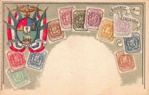 Transvaal Stamps on Early Embossed Postcard, Unused, Published by Ottmar Zieher