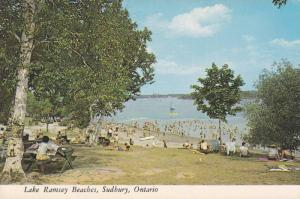 One of the Beaches on the Shores of the Beautiful Lake Ramsay, Sudbury, Ontar...
