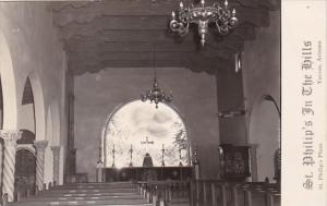 Interior St Philip's In The Hills Church Tucson Arizona Real Photo