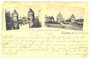 Kortrijk  , Belgium , PU-1900, Le Pont de la Lys et les Tours du Broel