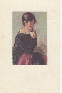 Woman portrait , 1900-10s ; #34A ; Artist A. Terzi