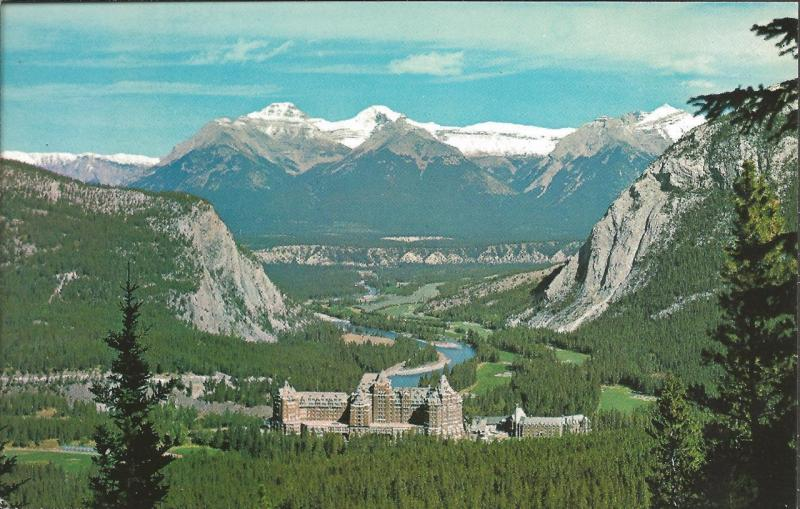 Vintage Postcard CANADA Canadian Rockies BANFF Springs Hotel & Golf Course