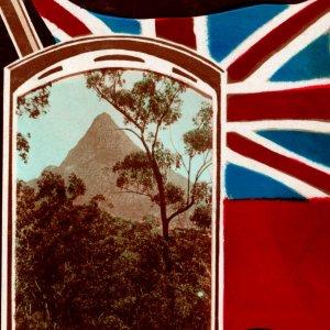 Vintage 1920s RPPC Queensland Glass House Mountain Postcard Australia
