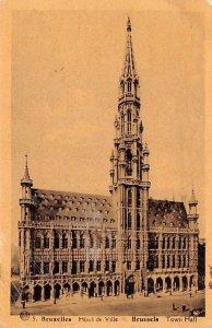 Hotel de Ville, Town Hall Bruxelles Belgium Unused