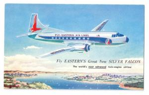 Eastern Martin Silver Falcon Twin Engine Airliner Postcard