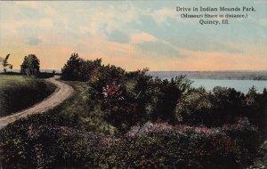 QUINCY, Illinois; Derive in Indian Mounds Park, Missouri Shore, 1900-10s