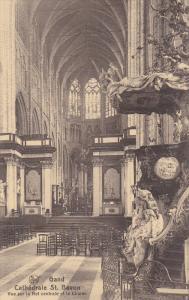 Cathedrale St. Bavon, Vue Sur La Nef Centrale Et Le Choeur, GAND (East Flande...