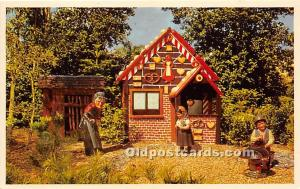 Bush Garde, Tampa, Florida, FL, USA Postcard Hansel and Gretel in Dwarf Villa...