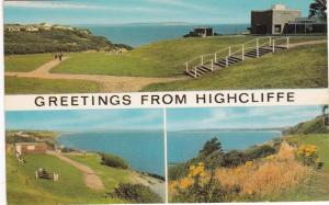 Post Card Dorset Highcliffe Greetings from