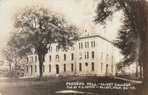 RP: OLIVET , Michigan , 1914 ; Parsons Hall , Olivet College
