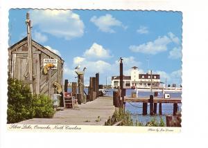 US Coast Guard Station, Pier, Silver Lake, Octacoke, North Carolina, Photo Ae...