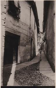 RP, TOLEDO, Spain, 1920-1940s; A Narrow Toledo Street