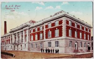 1910 WHEELING West Virginia W VA Postcard B&O DEPOT