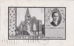 Iowa Des Moines Swedish Methodist Episcopal Church  1907