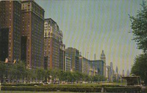 Illinois Chicago Looking North Along Michigan Boulevard From Grant Park At Ch...