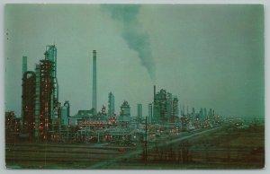Wilmington Delaware~Refinery~Tidewater Oil Company~Vintage Postcard