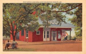 Braddock Heights Maryland Post Office Soda Shop Antique Postcard K78403