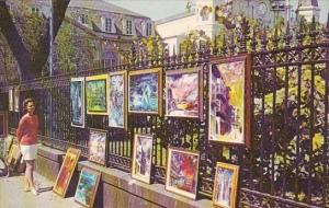 Louisiana New Orleans Paintings On Exhibit In The French Quarter