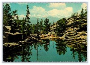 1982 Gem Lake Longs Peak Colorado Vintage Postcard Continental View Card