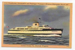 S.S.  POCAHONTAS  , Auto & People Ferry boat, Kiptopeke Beach-Norfolk, Virgin...