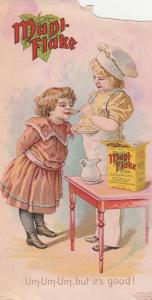 Victorian Trade Card Mapl-Flake Breakfast Food Hygienic Food Co Battle Creek MI