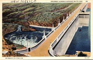 New Mexico Driveway Across Elephant Butte Dam 1943 Curteich